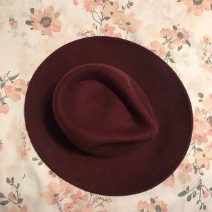 Maroon Felt Hat